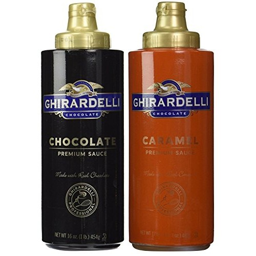 Ghirardelli Chocolate (16oz) & Caramel (17oz) Sauces in Squeeze ...