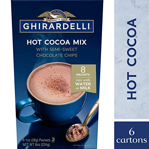 Ghirardelli Hot Cocoa, Rich Chocolate Pack of 6