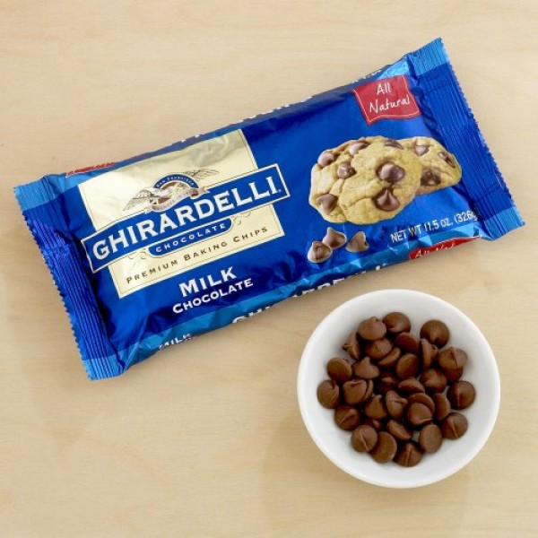 Ghirardelli Milk Chocolate Baking Chips 11.5 oz. Pack of 3