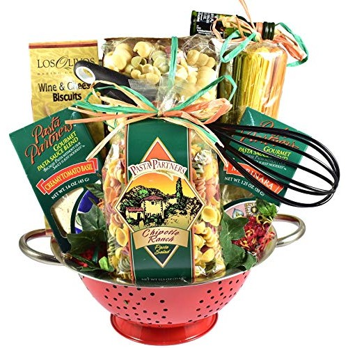 A Taste Of Italy, Italian Gift Basket with Artisan Pastas and Au...