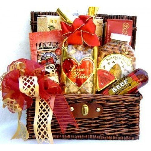 Sweet Indulgence - A Gourmet Gift Basket In Whicker Trunk With S...