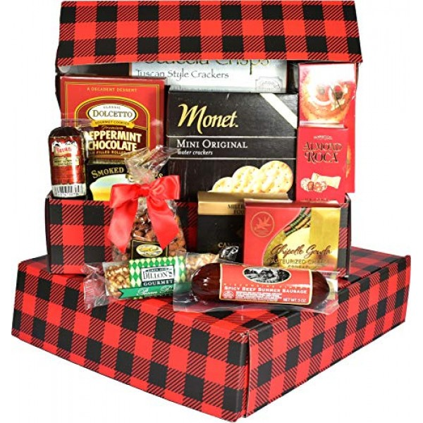 Gift Basket Village Dude Food, Gift Box For Him with Sausage, Ch...