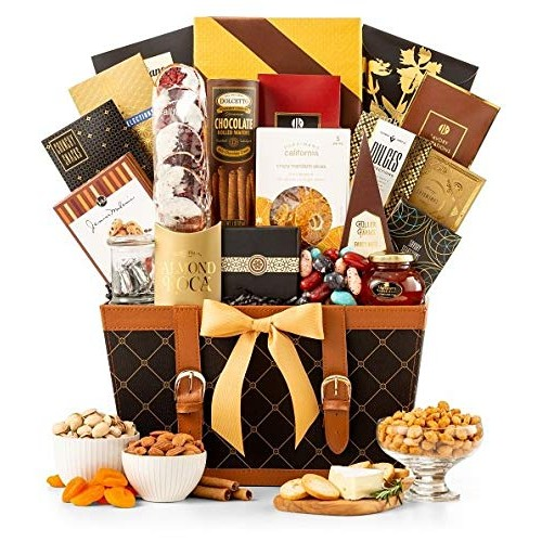 GiftTree Golden Gourmet Gift Basket   Enjoy Caramel Stroopwafel,...