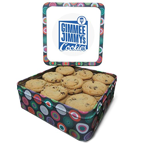 Gimmee Jimmys Chocolate Chip 2lb Cookie Tin | Perfect for Corpo...