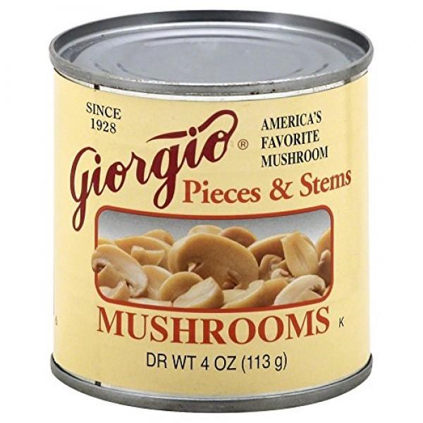 Giorgio Mushroom Pieces N Stem 6 Pack