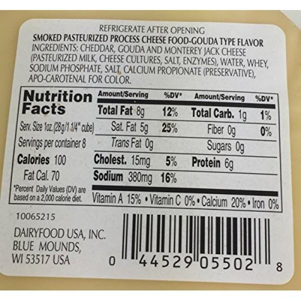 8oz Glacier Ridge Farms Smoked Gouda Cheese Pasteurized One Unit