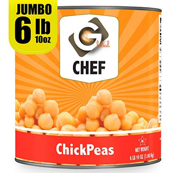 Global Chef - Chick Peas Garbanzo Beans - 106 oz 3kg - JU...