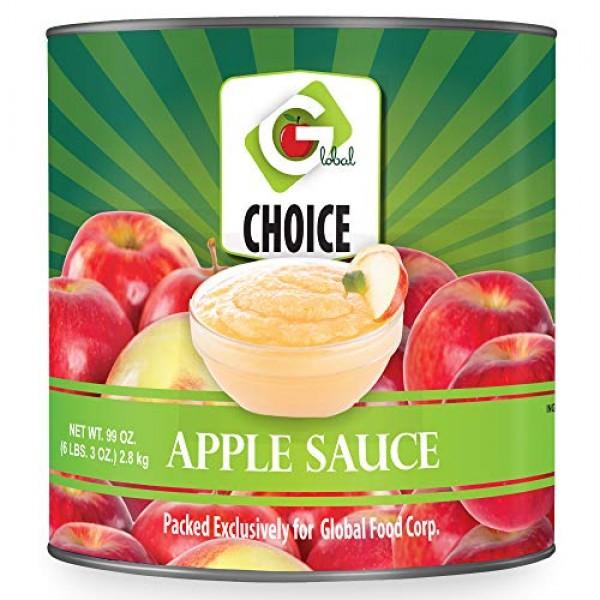 Global Choice - Apple Sauce Unsweetened - 99oz 2.8kg - JUMBO Size