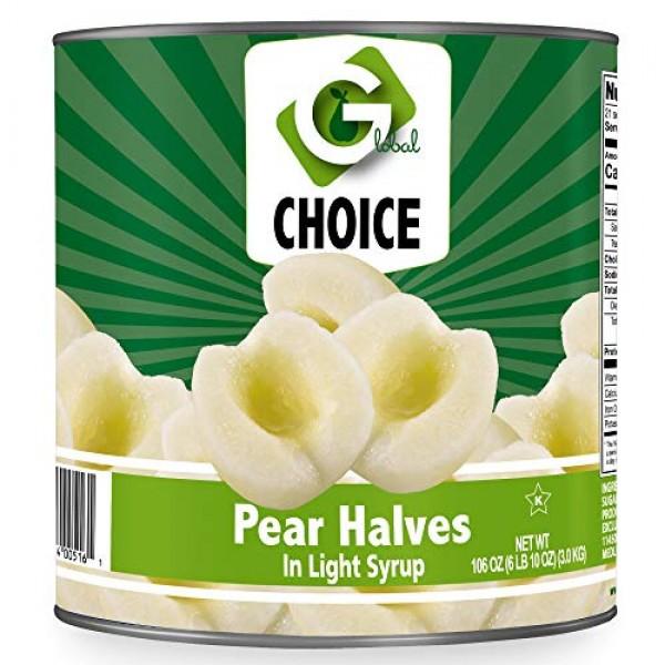 Global Choice - Pear Halves in Light Syrup - 106 oz - JUMBO size