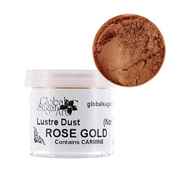 Rose Gold Luster Dust by Global Sugar Art