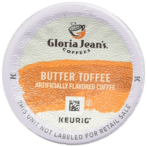 Gloria Jeans Coffees Butter Toffee 48 K-Cups for Keurig Brewers