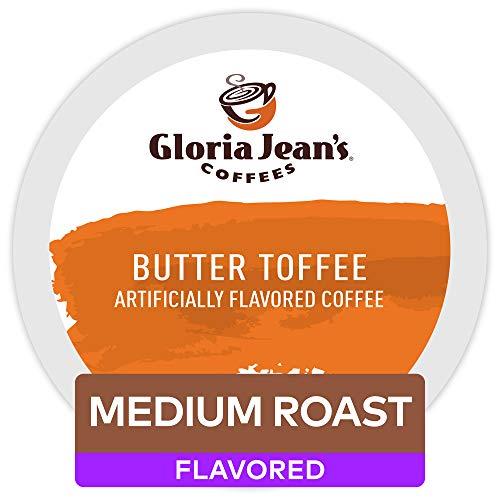Gloria Jeans Coffees Butter Toffee, Single-Serve Keurig K-Cup P...