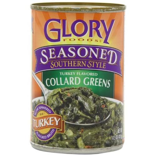 Glory Foods, Seasoned, Collard Greens in Turkey Broth, 14.5oz Ca...
