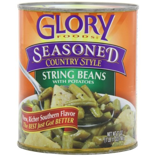 Glory Foods Seasoned String Beans with Potatoes, 27-Ounce Pack ...