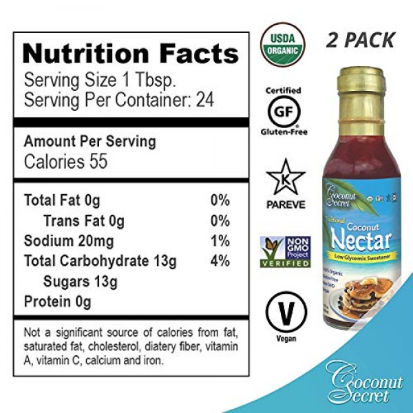 Coconut Secret Organic Pack Includes: 1 COCONUT AMINOS SOY FRE...