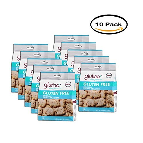PACK OF 10 - Glutino Gluten Free Original Animal Crackers, 6 oz