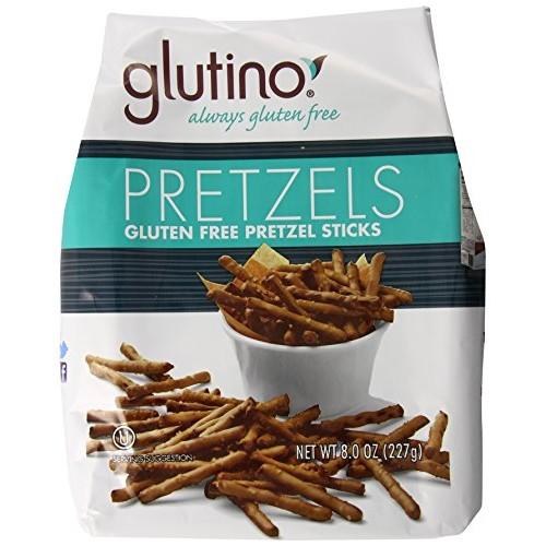 Glutino Gluten Free Pretzel Sticks, 8-Ounce Bags Pack of 12
