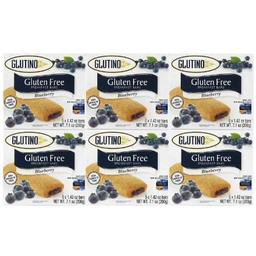 Glutino Gluten Free Breakfast Bars, Blueberry Acai, 5 Count Pac...