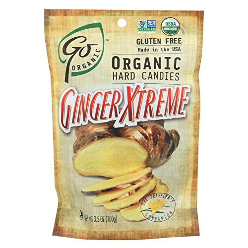 Go Organic Ginger Xtreme Hard Candy, 3.5 Ounce - 6 per case.