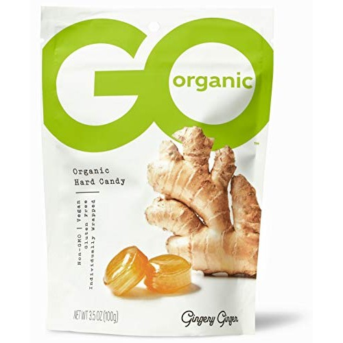 GoOrganic Organic Hard Candies, Ginger, 3.5 Ounce Bag Pack of 6