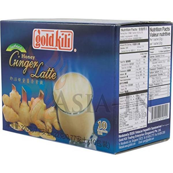 3 -Pack of -Ginger Honey Latte 10 Sachets 7.7 Oz Each