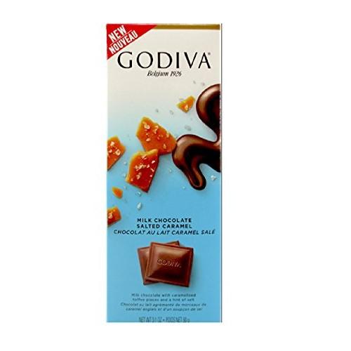 New Godiva , Milk Chocolate Salted Caramel, 3.1 oz , Pack of 5