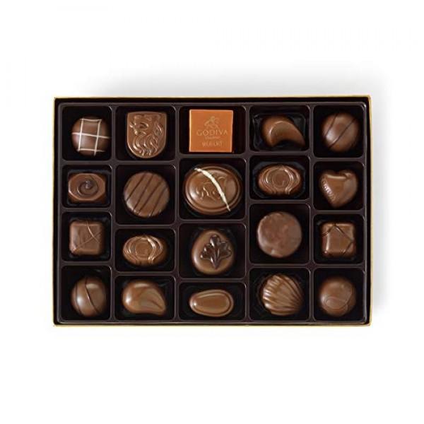 Godiva Chocolatier Assorted Milk Chocolate Truffles Gift Box, 22...