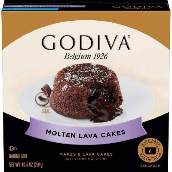 Godiva Molten Lava Cakes Baking Mix - 10.4oz Pack of 2