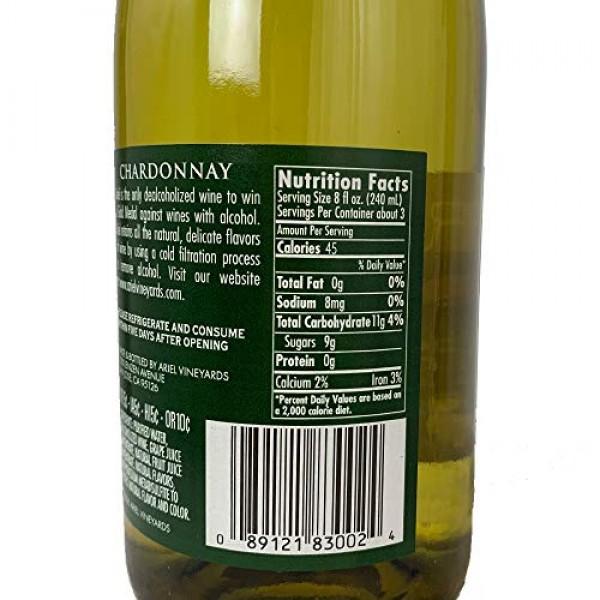 Ariel Cabernet & Chardonnay Non-Alcoholic Red & White Wine Exper...