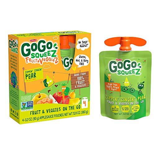 GoGo squeeZ Fruit & VeggieZ on the Go, Apple Pear Carrot, 3.2 Ou...