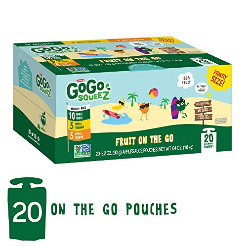 GoGo squeeZ Applesauce on the Go, Variety Pack Apple Apple/Appl...