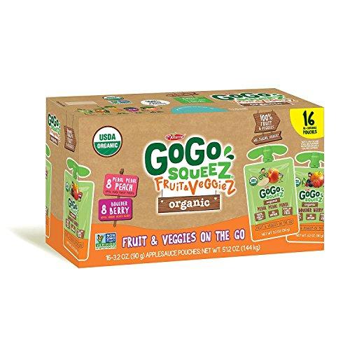 GoGo Squeez Organic Fruit & Veggiez On the Go Pouch, 3.2 ounce (...