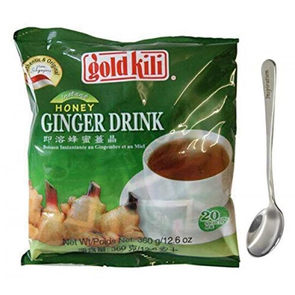 Ginger Honey Drink Gold Kili 40 Sachets Packed in 2 Bags, 12.6 o...