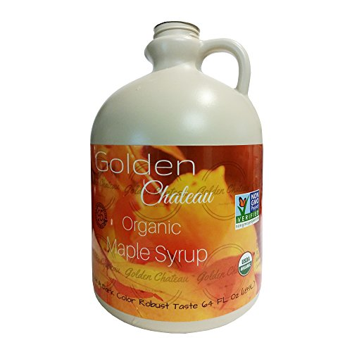 Golden Chateau Organic Maple Syrup Grade A Dark Color Robust Tas...