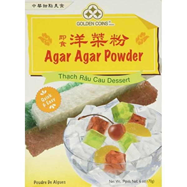 1 x 6oz Golden Coins Agar Agar Powder, Oriental Dessert, Product...