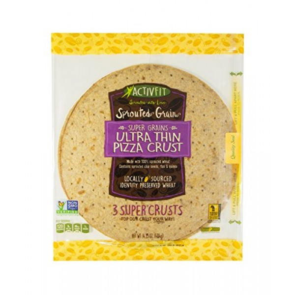 Golden Home ActivFit Ultra Thin Pizza Crust 12 Inch Sprouted Gra...