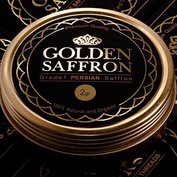 Golden Saffron, Finest Pure Premium All Red Saffron Threads, Gra...