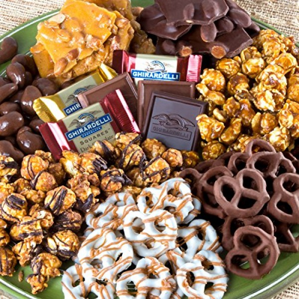 Chocolate Caramel and Crunch Grand Gift Basket for Valentines, S...