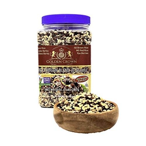 Golden Crown Multigrain Blend 6 Grains, Black Rice, Purple Bar...