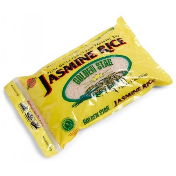 Golden Star Jasmine Rice, 80 oz