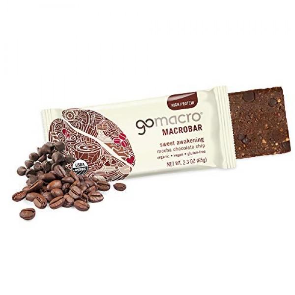 GoMacro MacroBar Organic Vegan Protein Bars - Mocha Chocolate Ch...