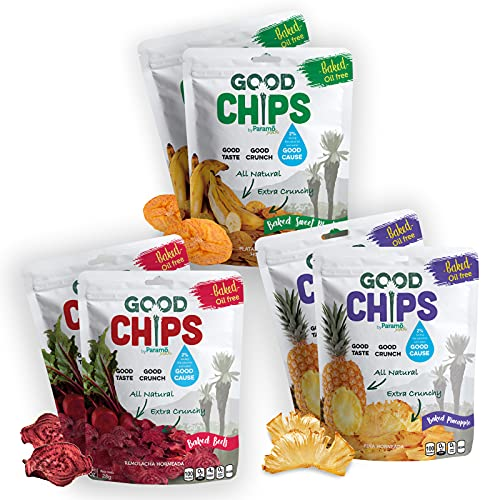 Baked Fruit and Veggie Crispy delight Chips by Good Chips | 1 Ou...