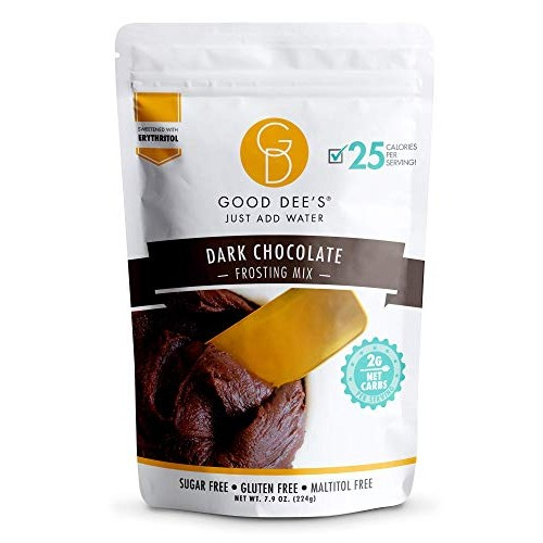Good Dees JUST ADD WATER Keto Frosting Dark Chocolate- Low carb...