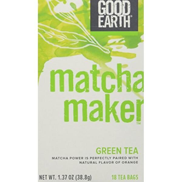 Good Earth 216930 Super Green Tea, Matcha Maker Green Tea - 18 C...