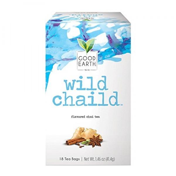Good Earth Chai Tea, Wild Chaild, 18 Count Tea Bags Pack of 6 ...