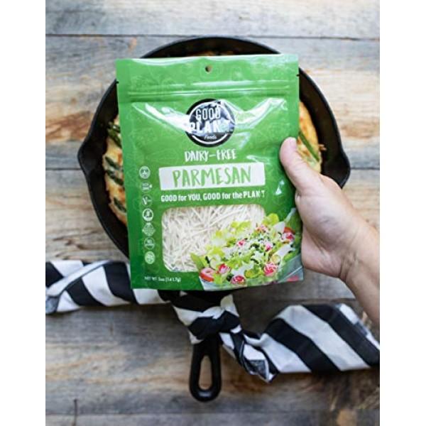 GOOD PLANeT Foods, Vegan, Plant-Based Parmesan Cheese Shreds, So...