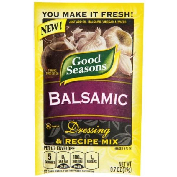 Good Seasons Balsamic Salad Dressing & Recipe Mix .7 oz Pack of 6