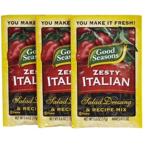 Good Seasons Zesty Italian Dressing Mix, 0.6 oz, 3 pk