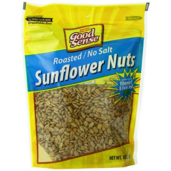 Good Sense Sunflower Nuts, Roasted No Salt, 8-Ounce Pack of 12