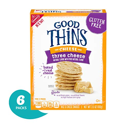 Good Thins Gluten Free Three Cheese Crackers Pack Of 6